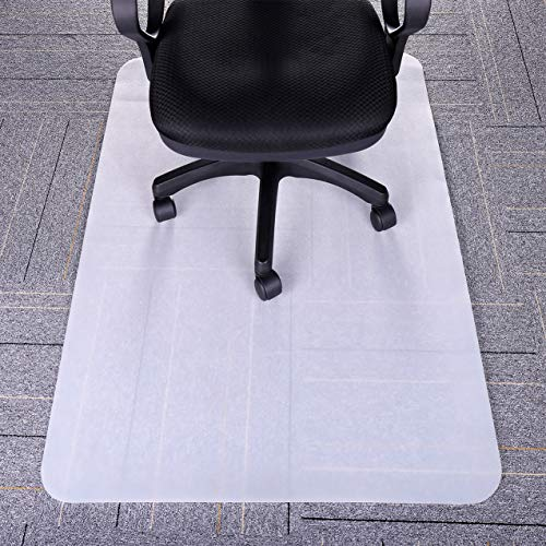 Office Chair Mat, 35''x47'' Budget & Good Clear Polycarbonate, Heavy Duty Carpet Floor Protector Under Computer Desk Sturdy Studded by BUDGET & GOOD