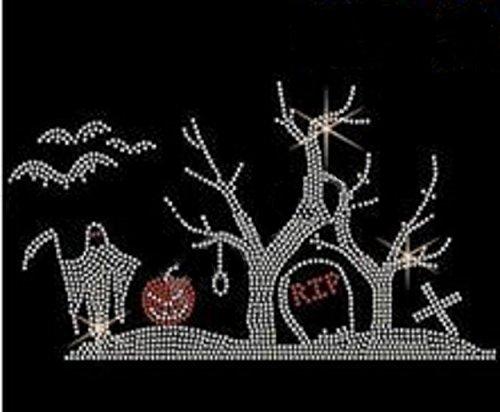 (Halloween Picture Rhinestone Iron on)