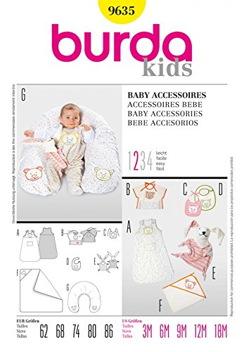 Burda Craft Sewing Pattern 9635 - Baby Accessories Sizes: One Size ...