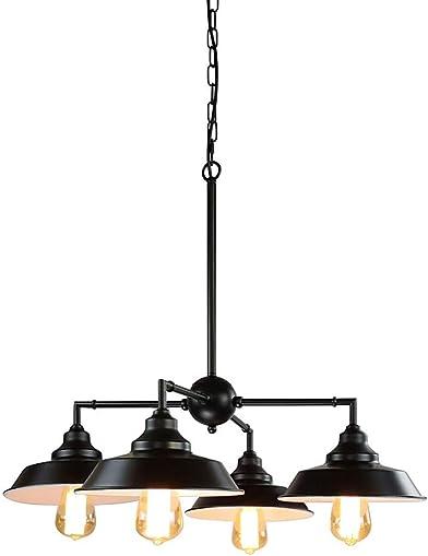 Longwind 4 Lights Industrial Chandelier Lighting Island Pendant Light Fixture