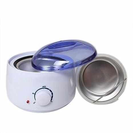 Calentador de cera depilatoria profesional con termostato y cesto, 100 W