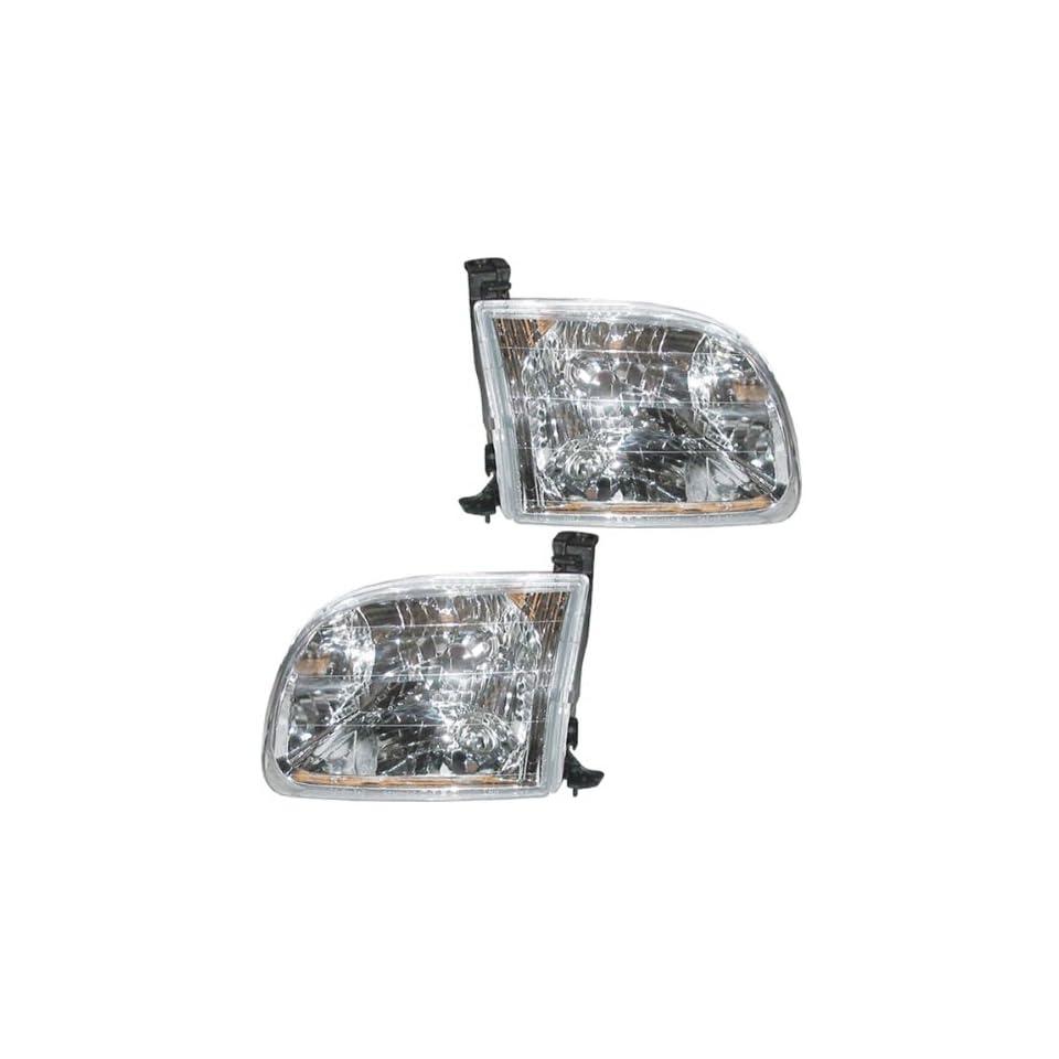 00 04 Toyota Tundra Pickup Truck Headlights Headlamps Head