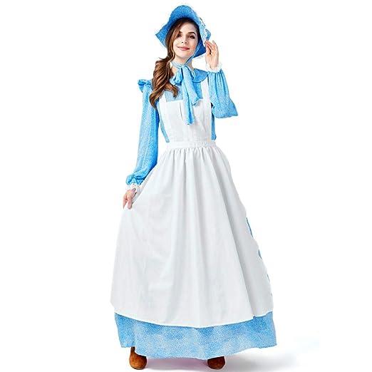 COSOER Traje De Mucama Gordo Vestido Azul Pioneer ...