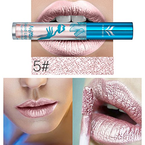 Gothic Display (Best-topshop Metallic Liquid Lipstick Set, Matte Gothic Waterproof Long Lasting Lip Gloss Party Dress up Gift for Women Girls Halloween Christmas (#5))