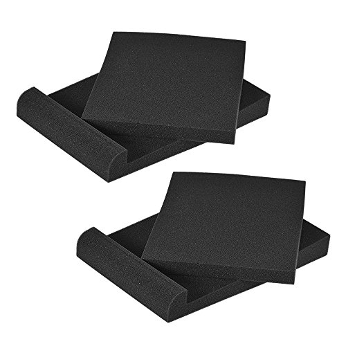 ammoon 2 Pack Studio Monitor Speaker Isolation Acoustic Foam Pads Max. 9.6'' 7.7'' Usable Area by ammoon