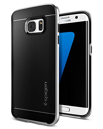 Silver Satin Flat Cable (Spigen Neo Hybrid Galaxy S7 Edge Case with Flexible Inner Protection and Reinforced Hard Bumper Frame for Samsung Galaxy S7 Edge 2016 - Satin Silver)