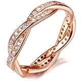 Best Rings Golds - 925 Sterling Silver Rose Gold-plated Engagement Wedding Rings Review