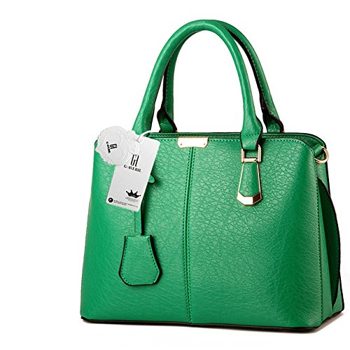 10 Handle Fashion Green New Women Shoulder G 2018 Handbag Look Colour Leather AVERIL Top q14PPwzU