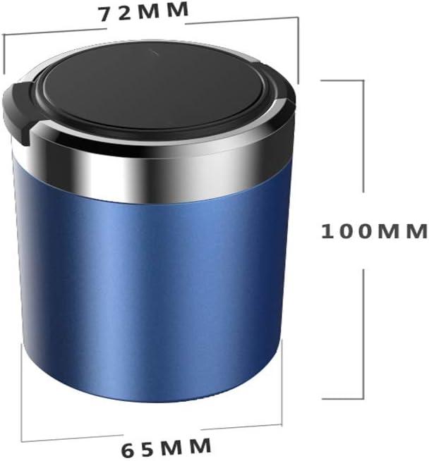 Aschenbecher Auto Auto Aschenbecher Mit Blauem LED-Licht Zigarettenetui Mit Deckel Schwarz Rot Gold Kompatibel Mit Honda Auto Logo Color : D