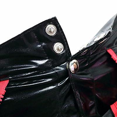 FEESHOW Men's Faux Leather Underwear Zipper Pouch Boxer Briefs Shorts Pants