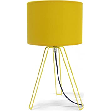 Tripod Bedside Lamp Yellow  Tripod Bedside Lamp Yellow Amazon co uk Kitchen  Home. Yellow Bedside Lamps   makitaserviciopanama com