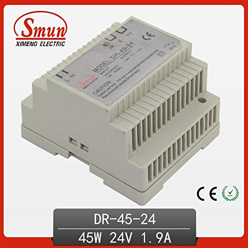 Utini 45W 24V 1.9A Single Output AC-DC Indoor Din Rail Switching Mode Power Supply DR-45-24