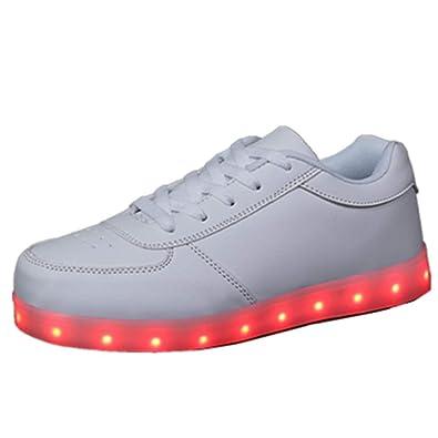 Axcer Unisex-niños LED Zapatos Verano Ligero Transpirable Bajo 7 Colores USB Carga Luminosas Flashing