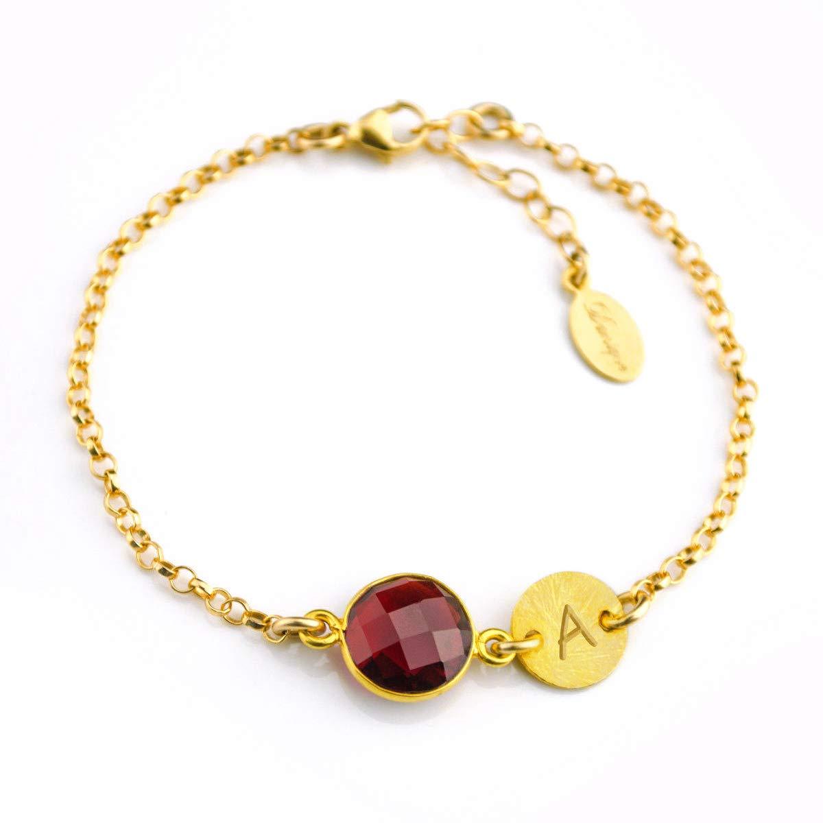Garnet Bar Bracelet Garnet Gemstone Earring and Bracelet Set January Birthstone Earrings Birthstone Bracelet. Crystal Jewellery Set