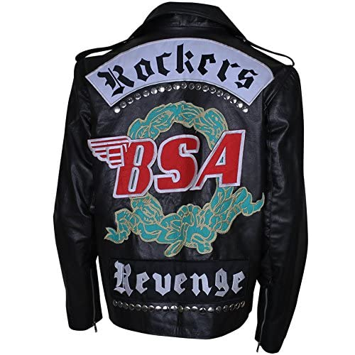 1a3f8a84e6ff0 George Michael BSA Rockers Revenge Motorcycle Leather Jacket hot sale 2017
