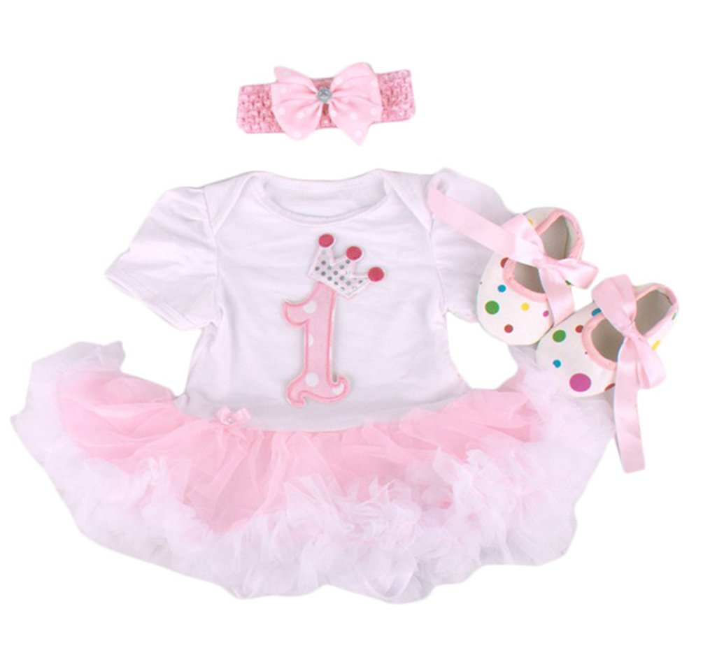 A Suit Tutu Skirts for 20-22 inch Baby Dolls birthday dress Baby Girl Clothes Shoe NPK