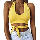 Hot Sale!!! Women Sports Vest,Jushye Sexy Fashion Sport Yoga Tops Camisole Sleeveless T-Shirt (L, Yellow)