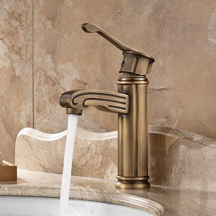 LYYU Modern brass chrome sink Tap European vintage copper wash basin ...
