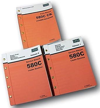 amazon com case 580c loader backhoe service parts manuals repair rh amazon com case 580c service manual free download case 580ck backhoe service manual