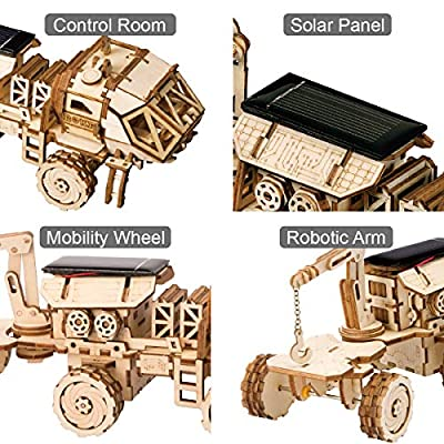 ROKR 3D Wooden Puzzle Solar Power Toy STEM Project (NAVITAS Rover): Toys & Games