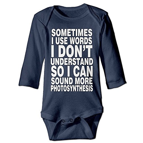 Sometimes I Use words I Don't Understand Autumn Long Sleeve Newborn Baby Boys Girls Baby Clothes | Crawling - T Football Don I Understand