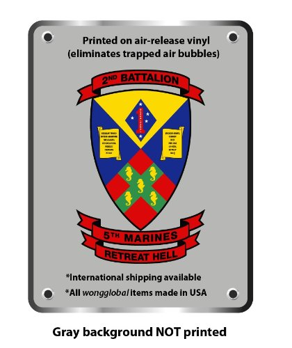 "2nd battalion 5th marines sticker decal 6"" x 4"""