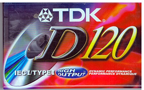 TDK D120 IEC I/Type I Dynamic Performance High Output Audio Cassette Tape by D5012