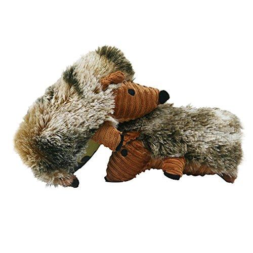 (LXLP Hedgehog Pet Squeak Toys,Chew Guard Technology Tough Plush Dog Toys,Suitable for Mdeium and Large dog)