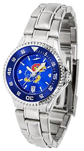- Kansas Jayhawks Competitor Steel AnoChrome Women's Watch - Color Bezel