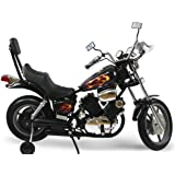 Kids Electric Power Ride on Motorcycle Harley Style Black - 6 volt higher amp