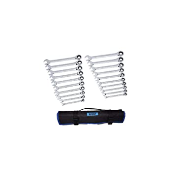 Gearwrench 20-Piece Ratcheting Wrench Set, SAE and Metric # 35720 (20-Piece with Roll Up Bag)