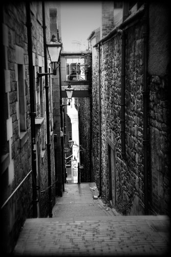 Edinburgh scotland close black and white print sobw1506 4x6
