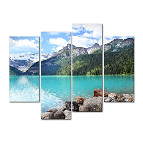 4-pieces-modern-canvas-painting-wall-art-the-picture-for-home-decoration-beautiful-lake-louise-in-th