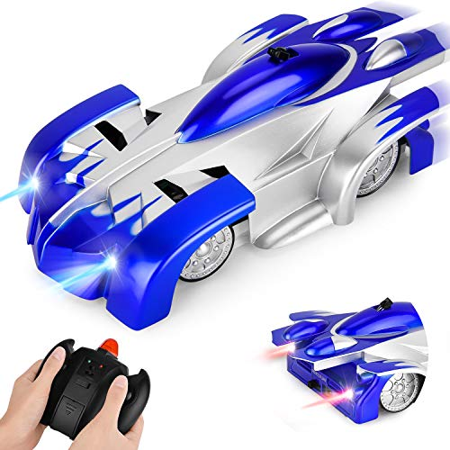 GotechoD Gravity Defying RC Car Remote Control Cars for Boys Toys Wall Climbing Car Rechargeable Fast Race Car 360°Rotating Stunt Vehicle Gifts for 6-16 Year Old Boys Girls Kids Blue