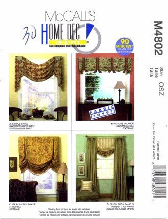 McCall's 4802: WINDOW VALANCE, SWAG, SHADE & PANELS