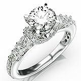 Kyпить 2.33 Carat Round Cut Designer Four Prong Round Diamond Engagement Ring (I-J Color, I2 Clarity) на Amazon.com