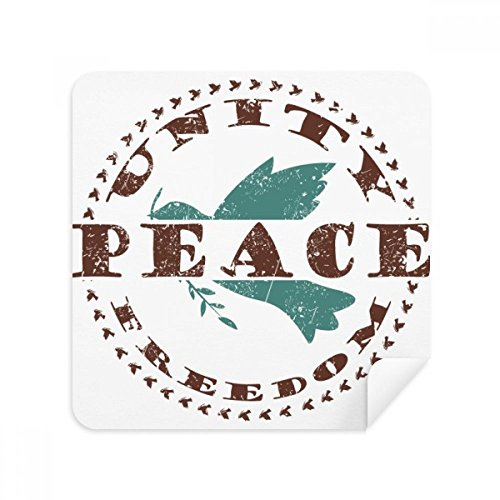 Olive Branch Peace Freedom Symbol Glasses Cleaning Cloth Phone Screen Cleaner Suede Fabric 2pcs