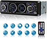 MEKUULA Bluetooth Car Stereo,1 DIN Audio Car Radio 12V 4x60W Support FM/USB/SD/AUX/MP3/TF Bluetooth