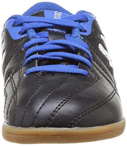 Kappa Kappa 4 Soccer Player Ic Lace - Zapatillas de Deportes de Interior de material sintético niño negro - Noir (Black/Blue)