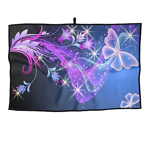 Gilmore Cabinet - KLQ Custom Golf Towel Color Butterfly Sports Towel Player Towel 23.6x15 Inches