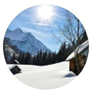 alfombrilla de ratón Panorama del invierno Panorama de las montañas al atardecer - Eslovaquia - Fatra - ronda - 20cm
