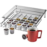 Home-it Glass k cup holder High quality k cup storage Holder, Holds up 36 k cups metal Drawer for Keurig K-cup Coffee Pod Holder, Keurig K Cup Holders