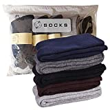 Kingbig 5 Pair Men's Sock Thick Soft and Comfort Cotton Crew Socks