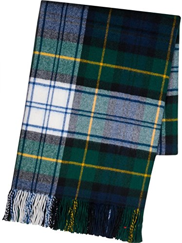 - Ladies Shawl Lambswool Gordon Dress Modern Tartan 70 x 180 cm