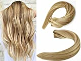 Bleaching Hair Hot - SeaShine Tape in Hair Extensions #12P613 Light Brown/Bleach Blonde 100% Remy Human Hair Extensions Silky Straight for Fashion Women 20 Pcs/Package(18Inch #12P613 40g)
