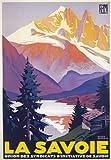 TX182 Vintage La Savoie Alps Winter French France PLM Railway Travel Poster Re-print - A3 (432 x 305mm) 16.5 x 11.7 by Affiche Prints