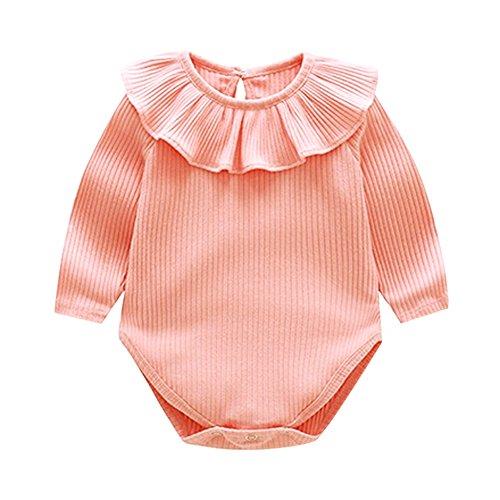 Londony  Newborn Kids Baby Boys' Short-Sleeve Onesies Bodysuit Summer Lace Romper Jumpsuit Bodysuit Sunsuit Outfits Pink ()