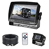 Backup Camera and Monitor System for Truck, Van and Larger Vehicles, 7-inch High Definition Digital Display + IP 67 Waterproof 18 IR LED Night Vision Rear View Camera