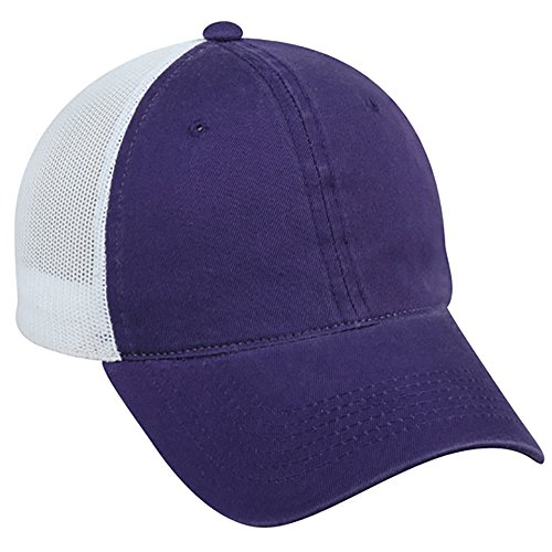 Outdoor Cap FWT-130 Heavy Garment Washed, Mesh Back, Purple/White, A ()