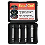 4 Piece Damaged Screw Remover Set. Damaged Screw and Bolt Exctractor Set Easily Remove Stripped or Damaged Screws. Made From H.S.S. 4341#, the Hardness Is 62-63hrc - Axetos
